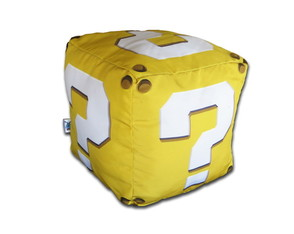 Almofada Question Block - Cubo Mario
