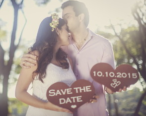 Placas p/ Save the Date Rústico Mod I