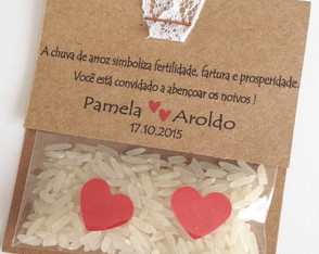 Mini Chuva de Arroz Nature Renda