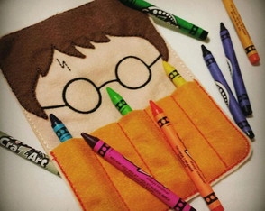 Estojo Harry Potter - Bordado
