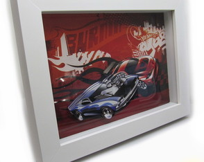 Quadro Decorativo 3d Hot Wheels 18x24cm