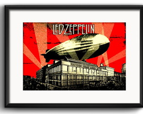 Quadro Led Zeppelin Rock com Paspatur