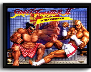 Quadro Street Fighter 2 Game