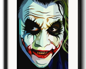 Quadro Coringa Pop Art com Paspatur
