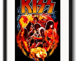 Quadro Kiss Rock com Paspatur
