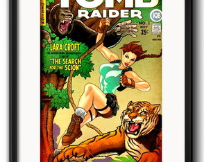 Quadro Tomb Raider Comics com Paspatur
