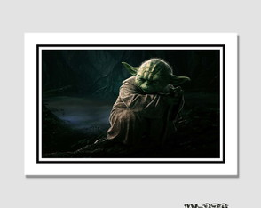 Quadro Filme Star Wars - Yoda 60x40cm N7 Decoracao Sala