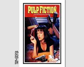 Quadro Filme Pulp Fiction 60x40cm N7 Decoracao Quarto