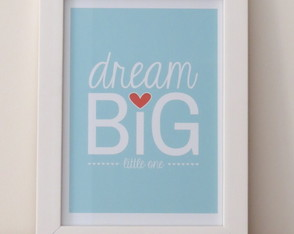 Quadro Decorativo Frase Dream Big