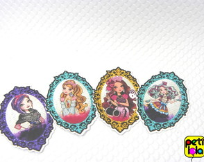 32 apliques Ever After High para tubete