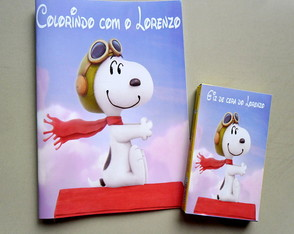 Mini Kit Colorir Tema Snoopy