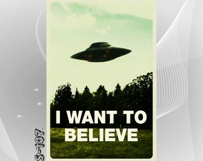 Poster 30x45cm Arquivo X Want to Believe