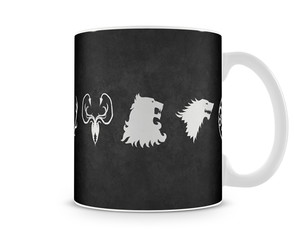 Caneca Game of Thrones - Simbolos