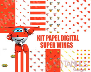 Kit papel digital Super Wings