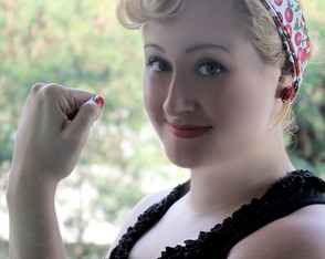 Bandana Pin Up Cerejinhas