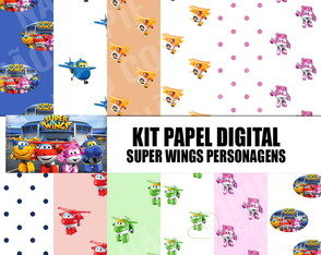 Kit papel digital Super Wings 02