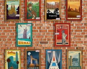 10 Quadros Decorativos Viagens 51