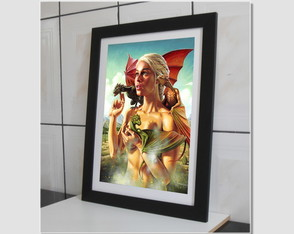 Quadro Game Of Thrones Cine Serie N7 Decoracao Sala Paspatur