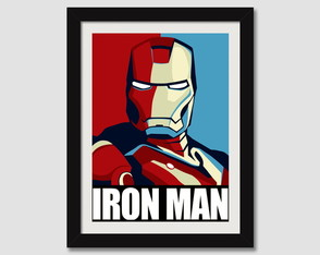 Quadro Filme Iron Man Serie Tv N7 Decorativo Sala Paspatur
