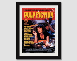 Quadro Pulp Fiction N7 Cinema Decorativo Moldura Paspatur