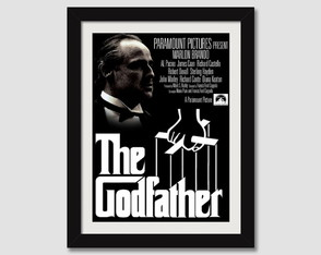 Quadro Poderoso Chefão Filme N7 Decorativo Godfather Sala