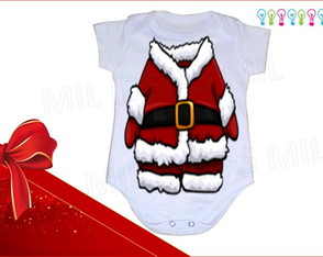 Body Infantil - Disfarce do Noel