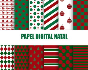 Kit papel digital Natal +BRINDE