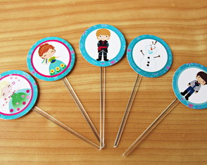 Toppers para doces Frozen Fever