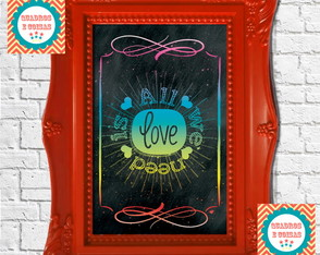 Chalkboard - LOVE IS ALL - PEQUENO