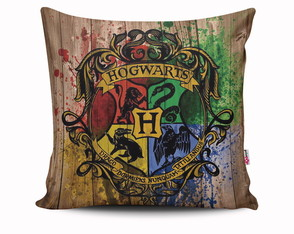 Almofada Hogwarts Escola Casas Harry Potter Hp