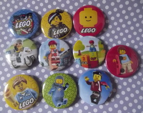 Botton Lego - Kit Com 10 Unid