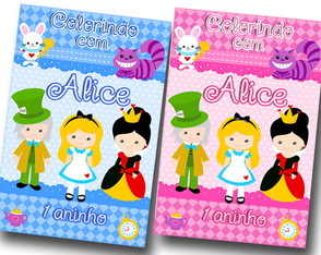 Revista para colorir ALICE 14x10