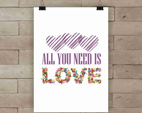 Poster All you need A4
