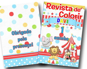 Revista de colorir Circo 14x10