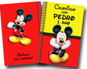 Revista colorir Mickey ou Minnie 14x10