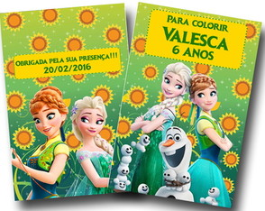 Revista de Colorir Frozen Fever