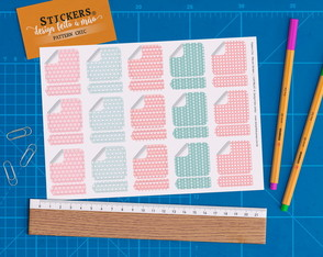 Cartela 30 Stickers Pattern Chic