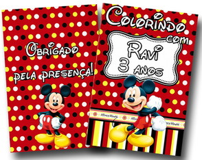 Revista de colorir Mickey 14x10