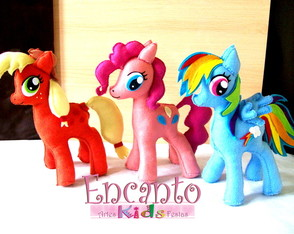 My Little pony 28cm /altura Kit com 6