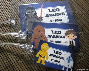 Kit 3 Bagtags - Star Wars