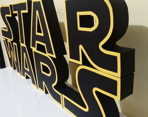 Logo 3d Star Wars