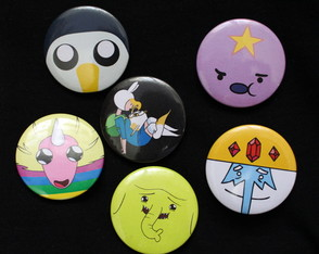 Kit 6 Bottons / Broches Adventure Time