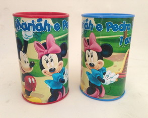 Cofrinhos tema Mickey e Minnie