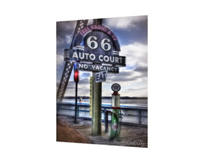 Placa MDF Route 66 Auto Court - 001
