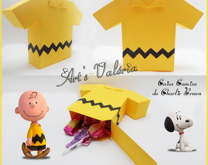 Caixinha Camisa do Charlie Brown