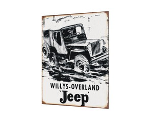 Placa MDF Jeep Willys - 048