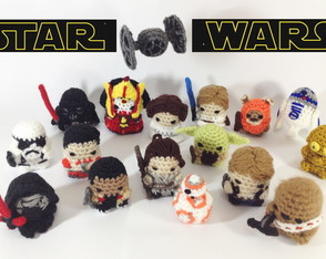Kit Star Wars com 5 personagens