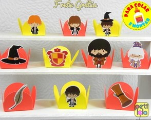100 forminhas Harry Potter p/ montar