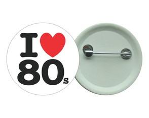 Botton 3,5 - I Love 80s - Boton