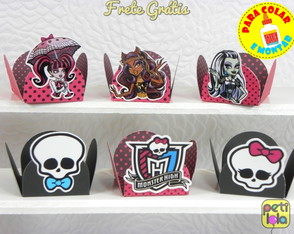100 forminhas Monster High p/ montar